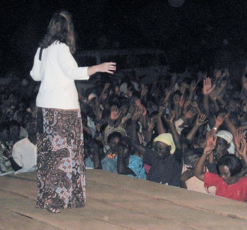 Preaching in Uganda, Africa in an overnight Crusade