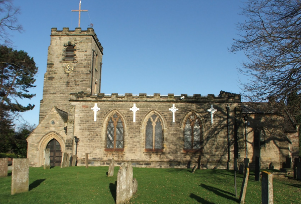 St Wilfrids church front view - Image @ Olive Kirk