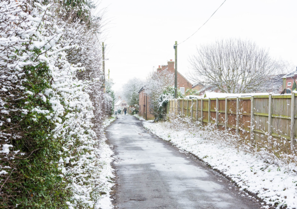 A snowy Carrington Lane - Image @ Stuart Noall