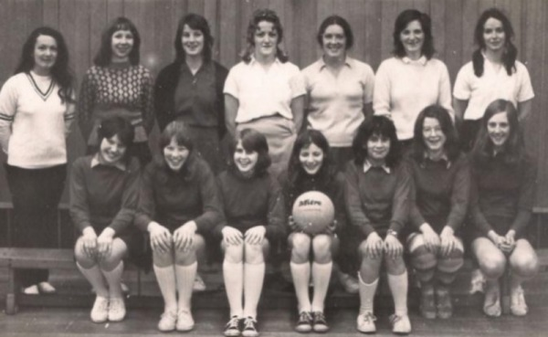 Colonel Frank Seely Netball team circa 1974