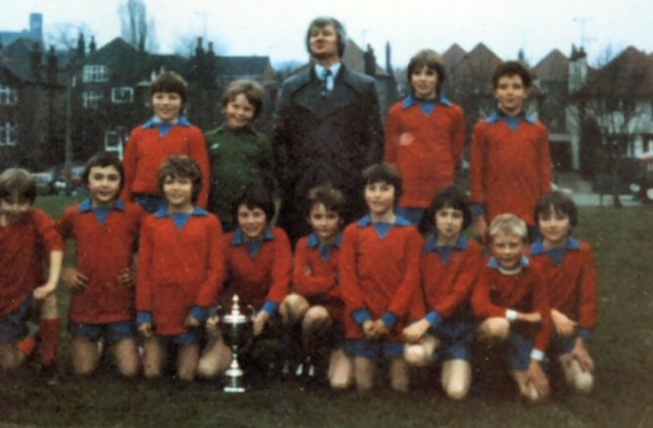 Sir John Sherbrooke 1980/81 double winners - Back: Ricky Downing, Roy Watson, Mr Singleton, Richard Rogers, Mark Chadbourne. Front: Dean Ford, Michael Davies, Darren Wright, Andrew Alls, Mick Bradwell, Lee Astill, Dean Titterton, Barrie Hodgson, David Buckley.