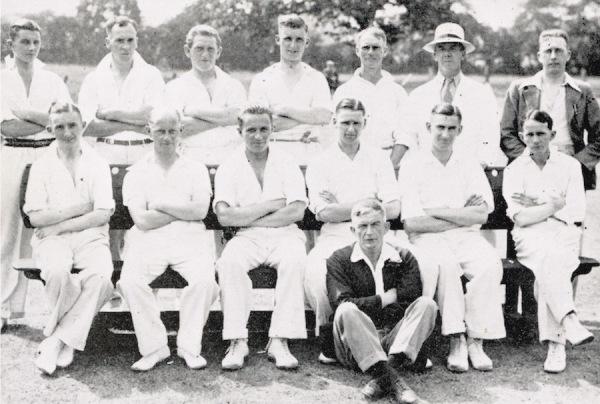 1935 - Back Row: C. Pinchbeck, H. Harrison, R. Richardson, H. Reek, P. Richardson, A. Stevenson,  A.S. Turton (Hon. Sec.) - Front Row: C.L. Turton, J.M. Lee, G.C. Smith, G. Binch (Capt.), R. Bardill, A.O. Lee, H. White (Scorer).