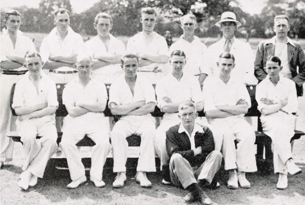 1935 - Back Row: C. Pinchbeck, H. Harrison, R. Richardson, H. Reek, P. Richardson, A. Stevenson,  A.S. Turton (Hon. Sec.) - Front Row: C.L. Turton, J.M. Lee, G.C. Smith, G. Binch (Capt.), R. Bardill, A.O. Lee, H. White (Scorer).