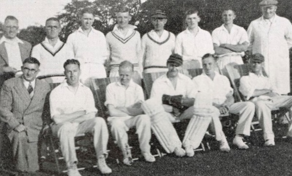 1940 - Back Row: A.S. Turton (Hon. Sec.), C. Winfield, G. Binch, H. Reek, G.C. Smith, R. Binch,  C. Pinchbeck, G. Trueman - Front Row: H.L. Doxey (Hon. Treas.), T. Fletcher, H. Turton, R. Bardill (Capt.), G. Verity, P. Richardson.