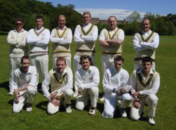 2002 line-up - Back Row: John Nester, Rich Hunter, Derek Pickering, Peter Crawley, Mick Sewell, John Kneale - Front Row: Chris Matthews, Matthew Rankin, Eddie Lee, Rich Lee, Dan Holloway.