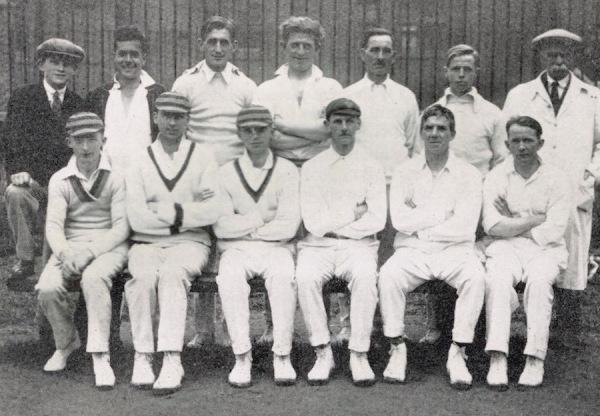 1929 - Back Row: F. Turton, S. Stevenson, J.W. Binch, R. Richardson, J. Holloway, C. Binch, W. Morley Front Row: C. Turton, G. Binch, C. Smith, N. Hind, A. Stevenson, A. Lee.