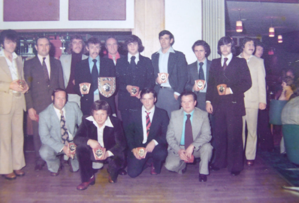 Notts Alliance winners circa 1972 - Line-up back row left to right: Joe Cairney, Rex Little, Brian Todd, Mick Cherry, Bob Kinton, Steve Bartley, Jim Hutchinson, John Thompson, Kev Bartley, Pete Stevens Front row: John Hartson, Paul Matthews (Jotty), ?, Stan Barker.