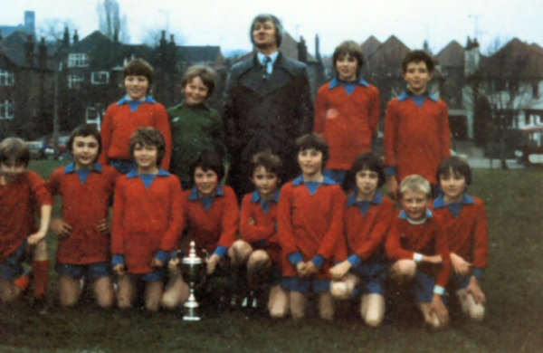 Sir John Sherbrooke 1980/81 Double Winners - Back: Ricky Downing, Roy Watson, Mr Singleton, Richard Rogers, Mark Chadbourne Front: Dean Ford, Michael Davies, Darren Wright, Andrew Alls, Mick Bradwell, Lee Astill, Dean Titterton, Barrie Hodgson, David Buckley.