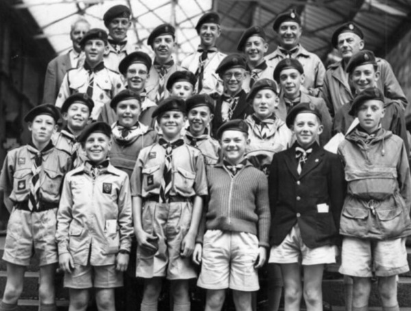 1960 Scouts at Midland Station