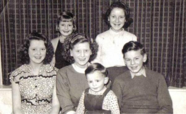 Circa 1958 Goodall family