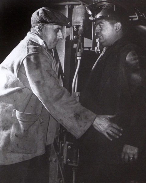 Bill Pye being frisked