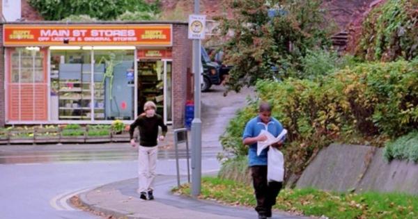 Walking up Mews Lane