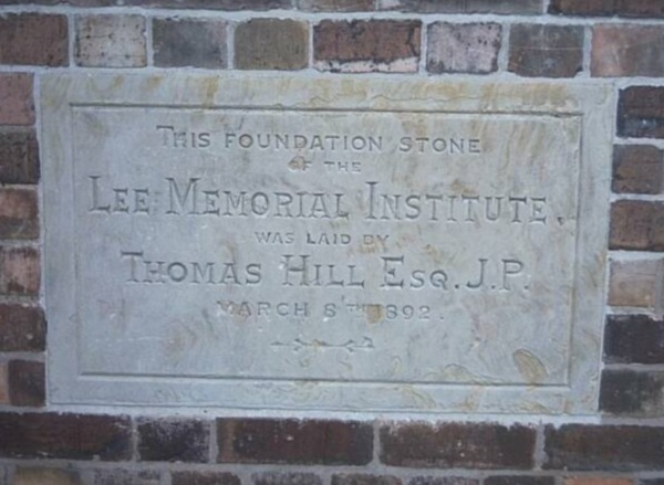 Foundation stone on the front  of the Old National School