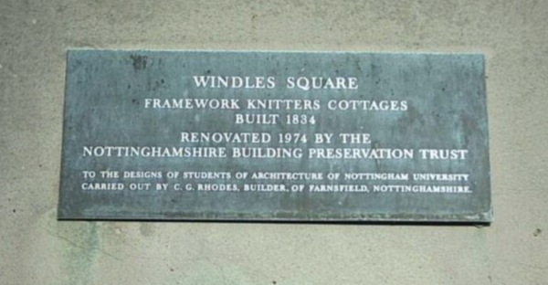 Windles Square Plaque
