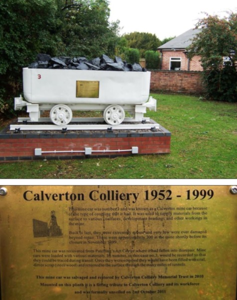 Colliery Minecar Memorial (next to CWMC)