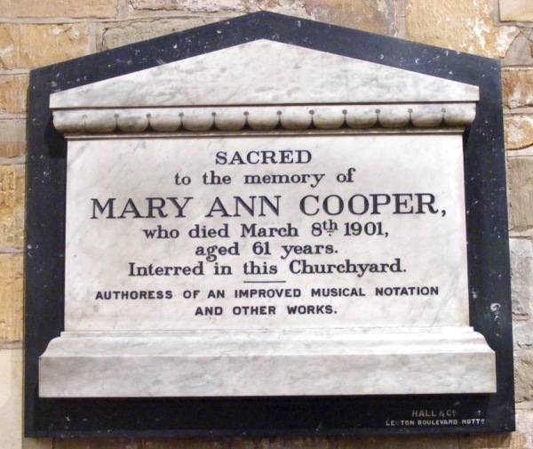 Mary Ann Cooper (Found in St Wilfrids Church)