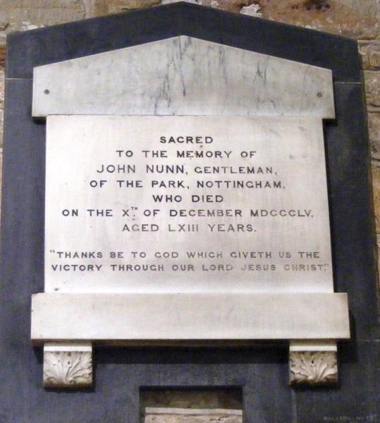 Monument for John Nunn