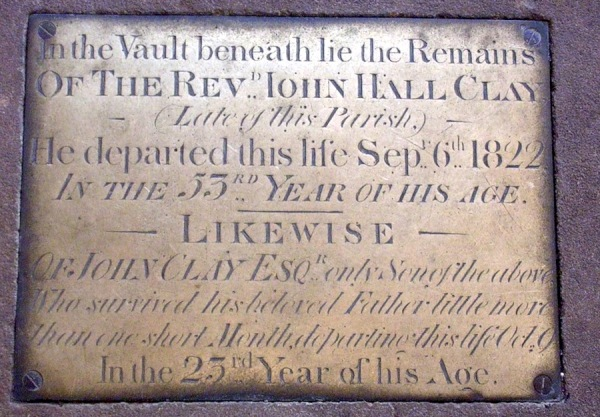 Accompaniment to the monument to John Hall Clay and his son