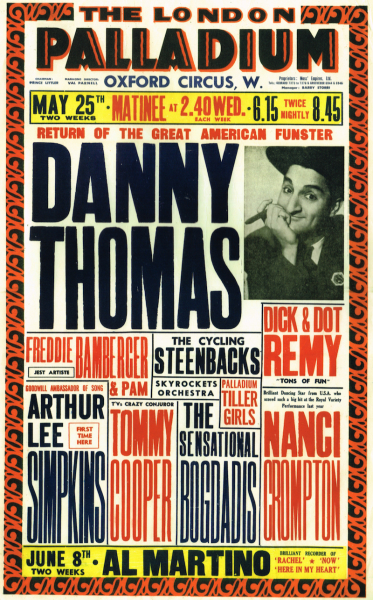 Danny Thomas Tops the Bill