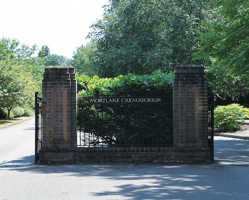 Mortlake Crematorium, London, site of Tommy's cremation