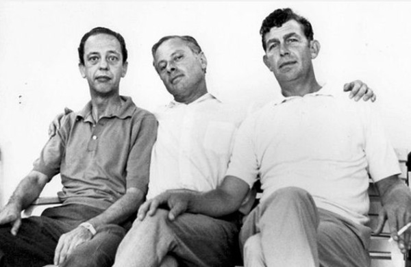 Aaron, centre with Don Knotts and Andy Griffith.​​​
