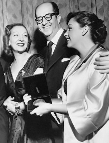 Gertrude Lawrence (The King and I), Phil Silvers (Top Banana), and Judy Garland,
