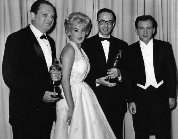 Ernest Gold, second right, at the 1961 Academy Awards
