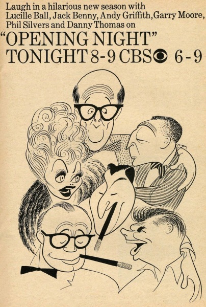 Al Hirschfeld ~ 'Opening Night'