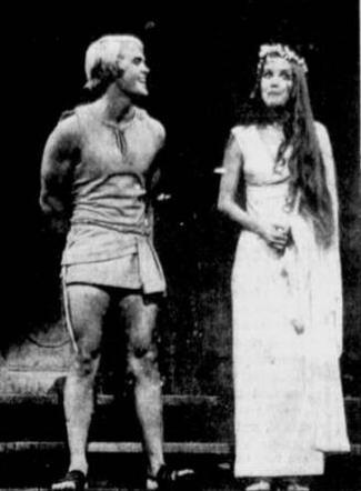 Hero (John Hansen) and Philia (Pamela Hall)
