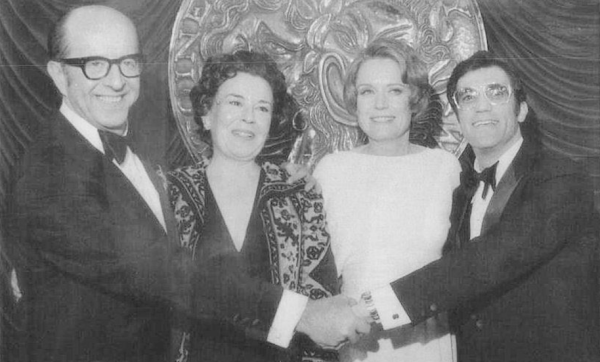New York 1972 Tony Awards. Phil with fellow award winners; Sada Thompson, Alexis Smith & Cliff Gorman