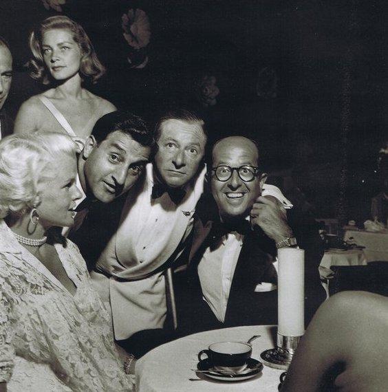 Humphrey Bogart, Lauren Bacall, Danny Thomas, Georgie Jessel