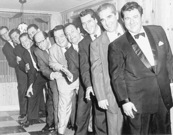 Beverly Hills CENSORED Club and a line-up of comedians that includes Buddy Hackett, Phil, Milton Berle,  Jan Murray, Steve Allen and Phil Foster