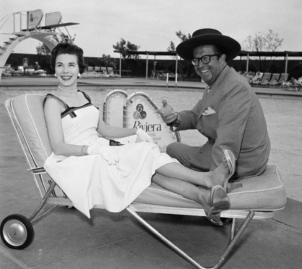 1956 Las Vegas: Phil with Evelyn