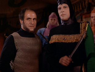 Appearing as the Klingon, Kras, in 'Star Trek'