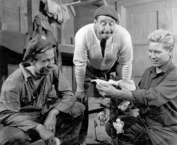 Allan with co-stars, George Tobias and Richard Cleary