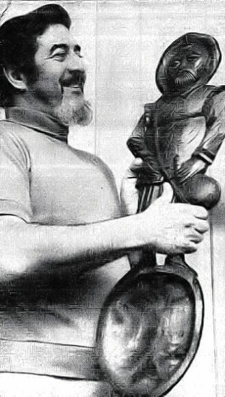 Man of La Mancha with his veteran award