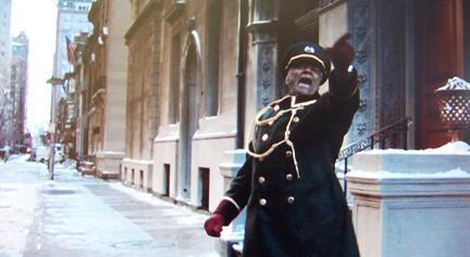 P Jay as the 'Heritage Club' doorman in the film, 'Trading Places'