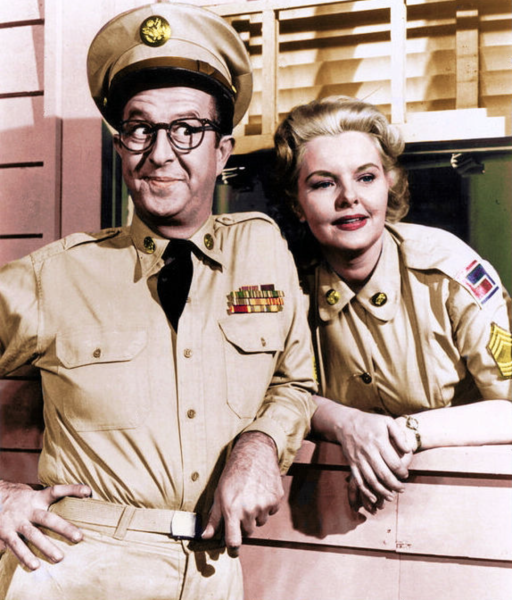 Ernie and his sweetheart Sergeant Joan Hogan