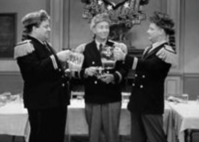 With the great, Jackie Gleason and Art Carney, in 'The Honeymooners'