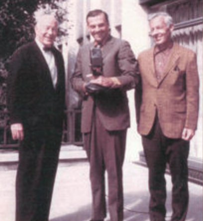 1970: With WTIC's, Dick Bertel and Eddie Corcoran