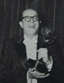 Silvers with 1955 Emmy award.  His show and its staff took six of these prizes (CBS Photo)