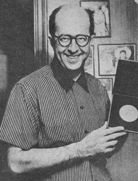 The man who came up fastest in TV's race for fame, Phil Silvers, veteran funnyman, has finally achieved the acclaim he deserves. Phil is proudly displaying the Tony award he received