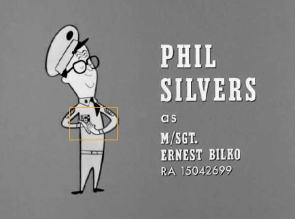 On the closing credits, the animated character of Bilko, has his military ribbons on the wrong side of his uniform.  Ooooops!!