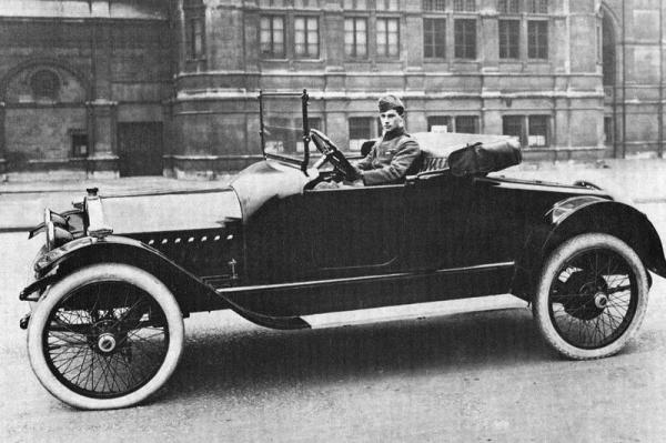 At the wheel of his new Oldsmobile late 1916.