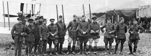 Air crews of13 Squadron RFC, Albert is second from the left.