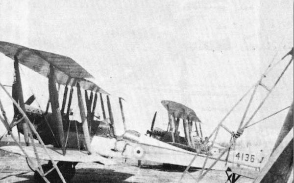 A BE2c 4136 flown by Albert in Number 8 Squadron.