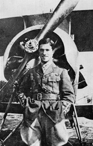 In front of a 60 Squadron Nieuport Scout, September 1916 at Savy airfield, France