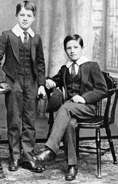 1911, Albert (right) with brother Cyril at Trent College.