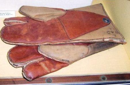 Flying gloves.