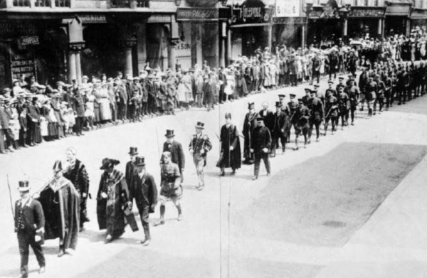 The city of Nottingham held their own memorial service in June 1917.